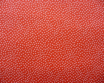 Orange Dot Fabric, Michael Miller CX1065  CLEMD Garden Pin Dot, Orange Polka Dot, Halloween Cotton Dot Fabric, Orange & White Dot Fabric