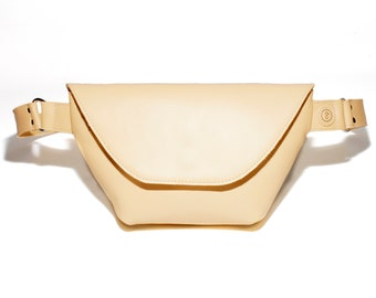 Fanny pack leather Yellow