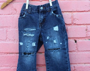 Ripped Baby Jeans Distressed Jeans 12-18 Months Infant Jeans Distressed Denim Toddler Jeans Acid Wash Jeans Trendy Baby Clothes