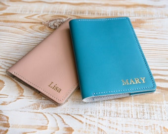Leather passport cover personalized passport covers and luggage tags mothers day gift bridesmaid gift wedding favors womens passport cover.