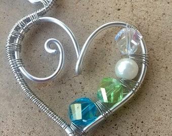 Custom heart pendant.