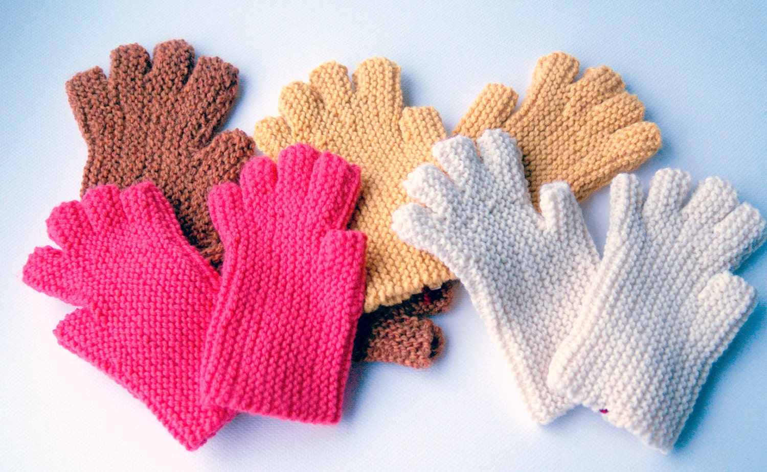Fingerless Glove Pattern, Easy to knit, Worsted Weight, Downloadable ...