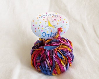 Ombre 59, Laines du Nord, ribbon yarn, novelty yarn, destash