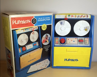 Vintage Play N' Learn Computer - In It's Original Box - 1972