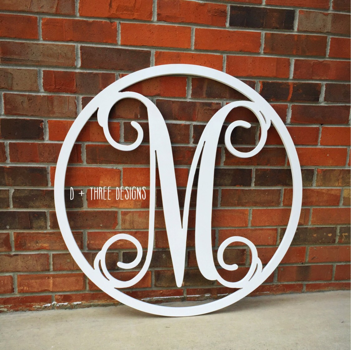 30 Inch Painted YOU PICK The COLOR Circle Wooden Monogram, Letters, Door  Hanger, Home Decor, Weddings, Nursery Letters