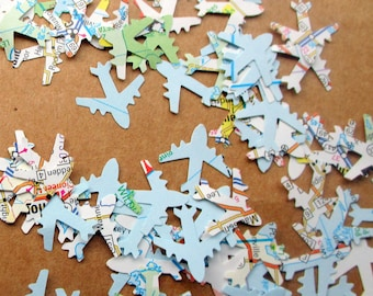 Top Seller 750-Travel Theme Party-Airplane Confetti-Baby Shower Decorations boy-Travel Theme Bridal Shower Decorations-Plane confetti-Atlas