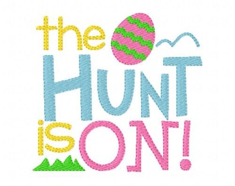 Embroidery Design, Easter Egg Hunt Is On  // Joyful Stitches