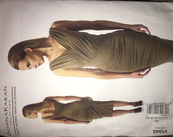 Vogue 1342, DONNA KARAN COLLECTION - sizes 12, 14, 16, 18, 20