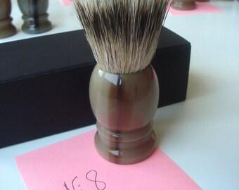 1 pc 22mm Knot Silvertip Badger Hair Shaving Brush Real Horn Handle #8