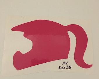 Helmet Pony Tail Pink