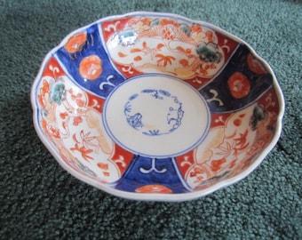Antique Beautiful Japanese Imari Porcelain Meiji Period Bowl