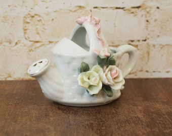 Vintage Ceramic Watering Can Ornament
