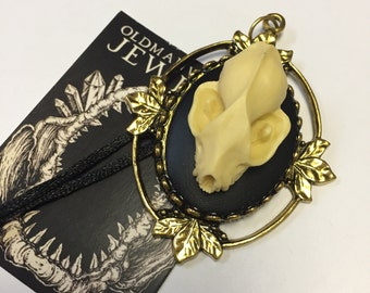 Resin Bat Skull in Gold Frame by oldmanwithers