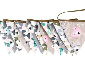 Animal Bunting in cotton