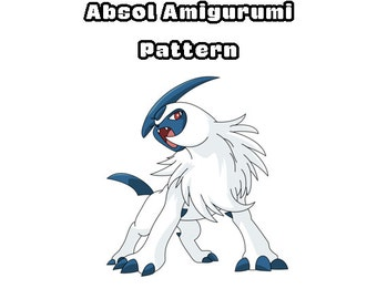 Absol Amigurumi Pattern, Pokemon Crochet Pattern, Absol Plushie, Nintendo Crochet Pattern, Crocheting Patterns, Amigururmi Pattern