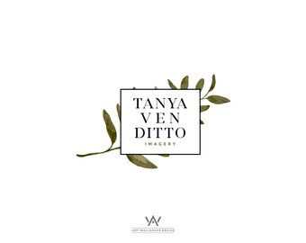 Elegant Twig logo, Floral logo, Photography logo, Pre made logo