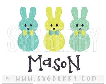 Easter SVG / Peeps Svg / Easter Baby Boy Onesie Shirt / Hanging With My Peeps Svg / Baby Shower Gift Decorations /Easter Bunny Cut Files /Br