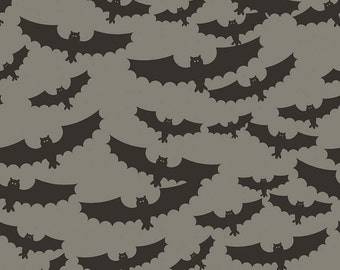Lost & Found Halloween by Riley Blake - Main Gray - Cotton Woven Fabric