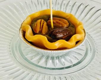 Grandma's pecan pie, pecan pie candle, pecan pie.