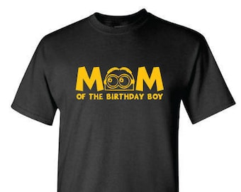 Mom or Dad of the Birthday Boy (or girl), Minion Inspired t-shirt