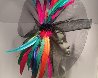 Fascinators for Derby- womens Fascinator- Luncheon Hat- Derby NYC- Derby Day- Wedding-Kentucky Derby- Tea Party -Racing - Horse show