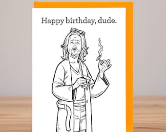 Birthday Card - The Dude - The Big Lebowski // Letterpress
