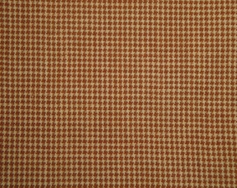 Cotton Homespun Fabric Khaki And Tan Fine Check | Primtive Fabric | Sewing Fabric | Rag Quilt Fabric | Doll Making Fabric