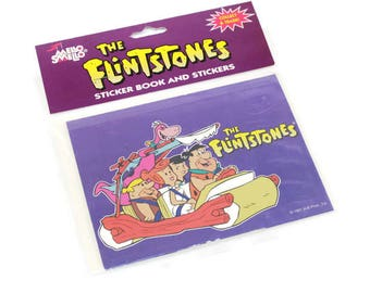 The Flintstones Sticker Book & Stickers Mello Smello Collectible Hanna Barbera Cartoons