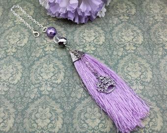 Purple Tassel Rear View Mirror Charm, Queen/Princess
