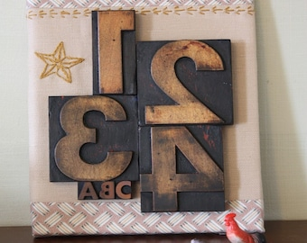 1234 and ABC Woodtype