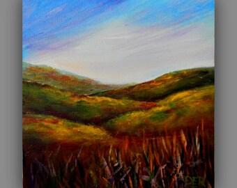 Landscape Painting , Original Landscape Painting, 6 x 6, home decor, office decor