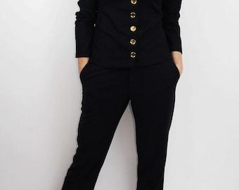 Women navy jacket, women navy blazer, women suit, blue marine jacket, womens jacket, women blazer, military jacket,