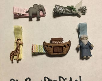 Noah's Noah arc ark hair clips barrettes