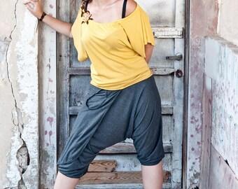 Grindhouse Death Proof Harem Pants , Women Harem Pants,  Wrap Skirt Pants  , Summer Pants , Harem Shorts