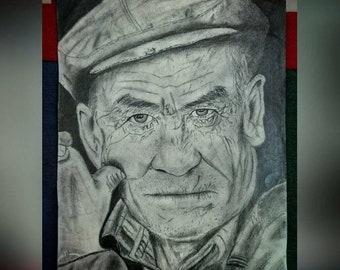 Custom portrait pencil professional sketch