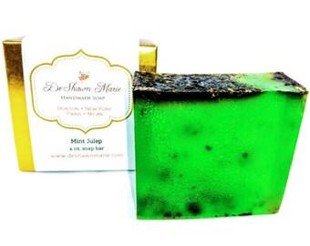 SOAP - Mint Julep Soap, Mint Soap, Vegan Soap, Spearmint Soap, Soap Gift, Green Soap, Kentucky Derby, Father's Day Gift, Christmas Gift