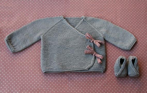 Lil Kimonos Wrap Booties Knitting Pattern