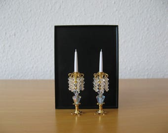 Pair of Miniature Candlesticks with Swarovski Crystals