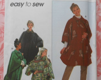 Winter Cape Sewing Pattern UNCUT Simplicity 8403