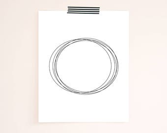"ABSTRACT CIRCLE Printable Wall Art - Digital downloadable print file. 8 x 10"" High Resolution Print."