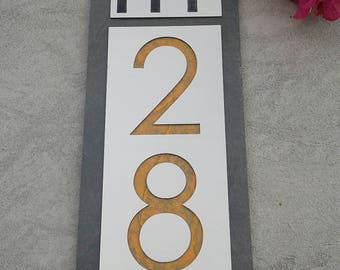 Mid Century Modern HOUSE NUMBERS Customized Home Address Plaque