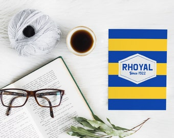 RHOYAL Since 1922 Note Card Set, Sigma Gamma Rho Sorority-inspired A2 Royal Blue and Gold (Yellow) 5x7 Folded Cards