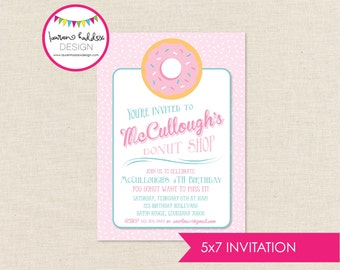 DIY, Donut Birthday Party INVITATION ONLY