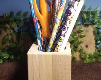 Wood Pencil Holder from Reclaimed Cedar, Paint Brush holder, Wooden Pencil Holder, Pen Holder