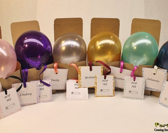 Ask Bridesmaid to be in wedding Balloon in gift box tied