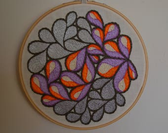 """6"""" Embroidered Abstract"""
