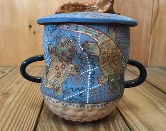Otter, Ceramic Jar, cookie jar, treat jar