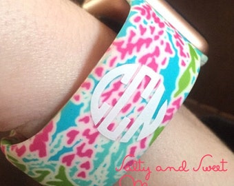 Monogrammed Lilly Pulitzer Inspired Apple Watch Band