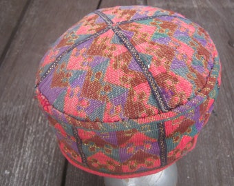 Oriental hat gift for her,Ethnic hat bohamian