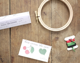 Cherry - Easy embroidery kit